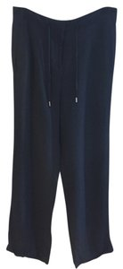 H&M Wide Leg Pants Navy Blue