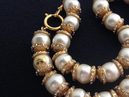 Chanel CHANEL RARE VINTAGE GRIPOIX GLASS PEARL CRYSTAL NECKLACE