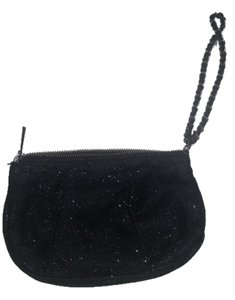 Express Wristlet in black with glitter