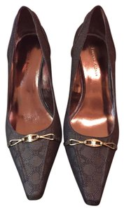 Etienne Aigner Monogram Brown Pumps