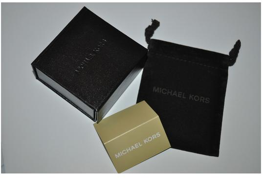 Michael Kors Size 8-Gold-Tone and Clear Stone 'H