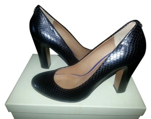 Coach Snake Python Sue Heels Black Pumps