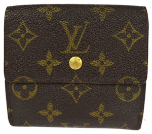 55e54775ece3 Louis Vuitton LOUIS VUITTON Double Snap Monogram Bi fold Wallet and Coin  Purse