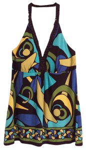Bisou Bisou Fun In The Sun Multi - black, yellow, green, blue Halter Top
