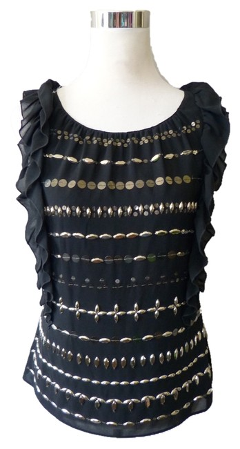 Robbi + Nikki Robert Rodriguez Silver Hardware Top Black