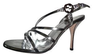 Gucci Argento Heels Silver Sandals