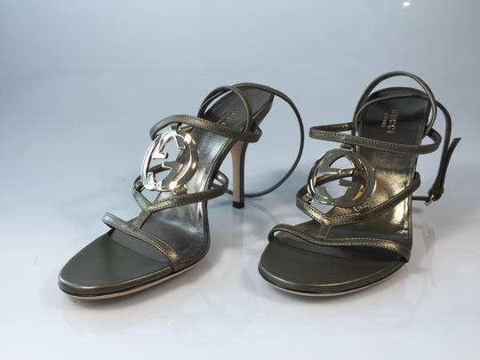 Gucci Sasso Heels Metallic Sandals