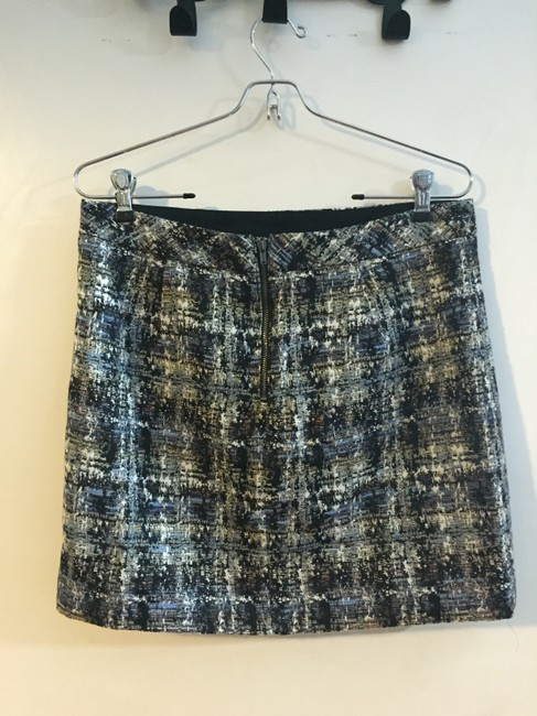 J.Crew Mini Skirt Blue Black White