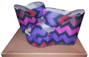 Missoni Sandals Heels Pumps Pink/Purple/Black Wedges