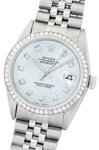 Rolex Rolex Datejust 36mm Stainless Steel and 18K White Gold Ice Blue Diamond Watch