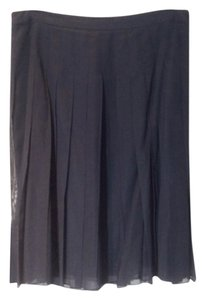 Theory Pleated Skirt Navy blue