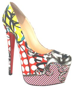 Christian Louboutin Daffodile Print 34.5 34 White, Red, Multi Pumps