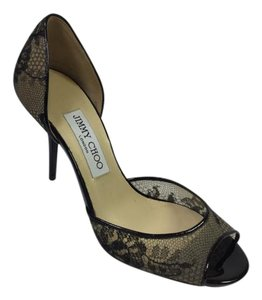 Jimmy Choo Pumps Lace Wedding Black Formal