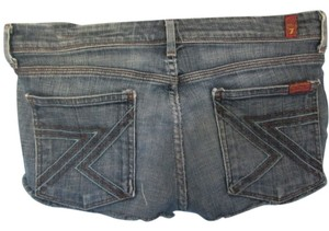 7 For All Mankind Cut Off Shorts blue denim