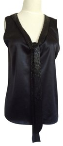 Theory Beaded Top Black