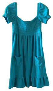 Juicy Couture short dress Turquoise on Tradesy