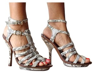 BCBGMAXAZRIA Grey, white and black Sandals
