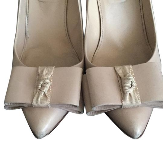 J.Crew Collection Heels Work Work Heels Bow Nude Pumps