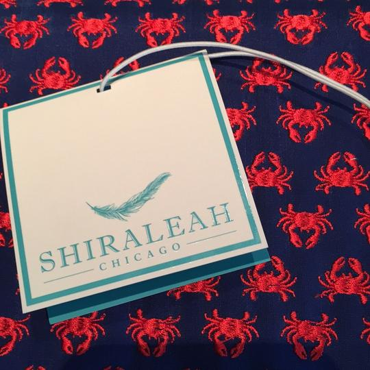 Shiraleah Crab Silk Navy And Red Clutch