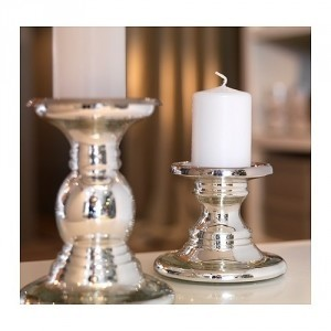 Silver Pillar Candle Holder 7