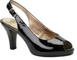 Söfft Peep Toe Patent Leather Wide Width Black Pumps