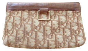 Dior Vintage Monogram beige and brown Clutch