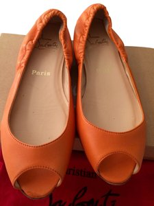 Christian Louboutin Orange Flats