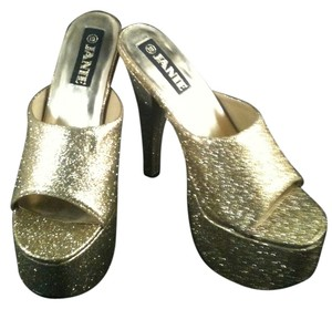 Dancer Platform Strapless Gold Sparkle Designer Platforms Platforms