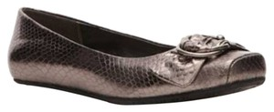 Kenneth Cole Metallic Gunmetal Flats