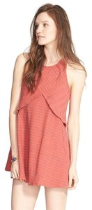 Free People short dress Red plaid Cutout Hippie Summer Plaid Fall on Tradesy
