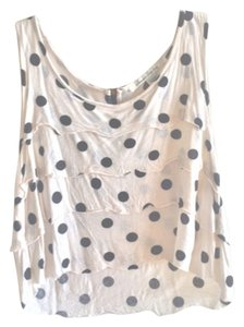 American Rag Top Beige with Black Dots