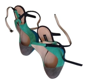 Shoe Mint Multi-colored Platforms