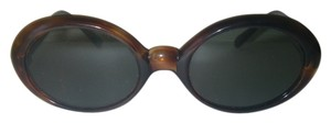 Kono Kono Alexa Sunglasses Vintage Rare Tortoise Frame France Green Glass Lenses
