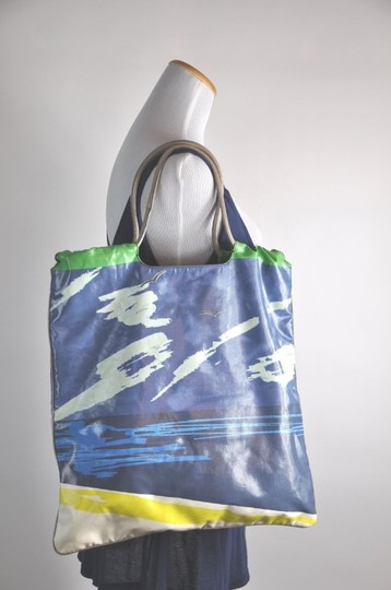 Lanvin Printed Aloha Patent Leather Beach Tote in Multi-color