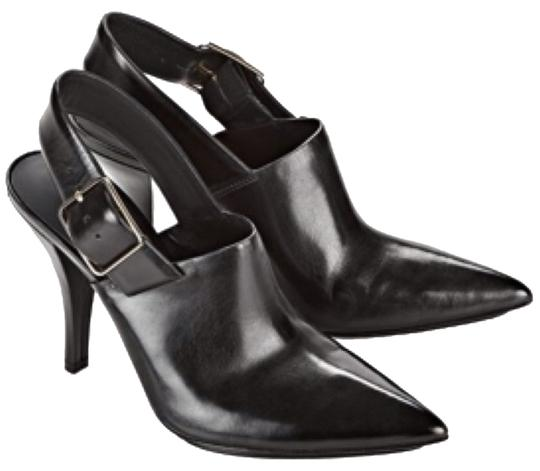 Alexander Wang Leather Chic Pointed Pumps Fall Fall Sling Comfortable Black Boots