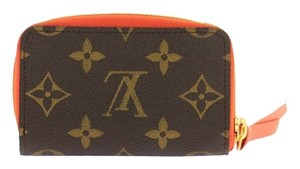 Louis Vuitton Authentic Louis Vuitton Monogram Zippy Multicartes w/ Chili Red Interior