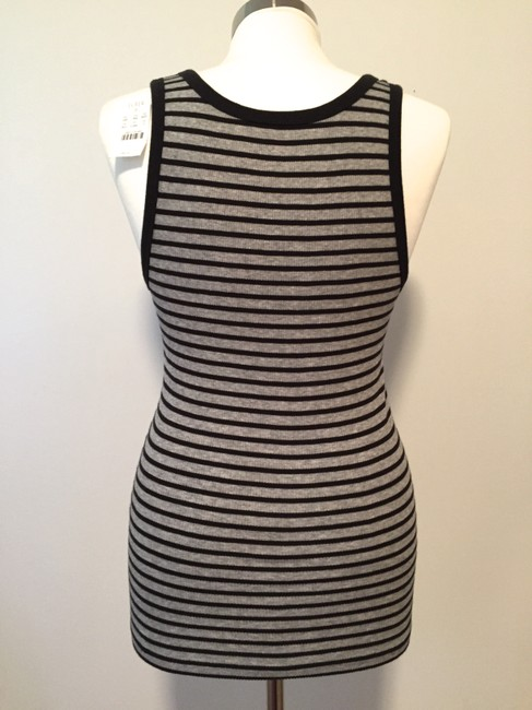 J.Crew Striped Jersey Top Gray