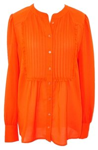 J.Crew #jcrew #sheer #blouse Top Orange