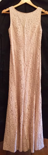 Diane von Furstenberg Light Pink Silk Rayon Lace Blush Formal Bridesmaid/Mob Dress Size 0 (XS)