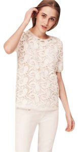 Ann Taylor LOFT Lace Romantic Sheer Lace Top