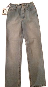Cambio Straight Leg Jeans-Light Wash