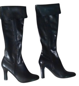 Steve Madden Leather Heel Heel New Black Boots