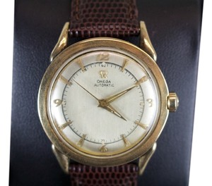 Omega * Omega Vintage Automatic 10kt Filled Watch w/ Lizard Grain Band