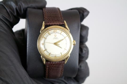 Omega * Omega Vintage Automatic 10kt Filled Watch w/ Lizard Grain Band Image 2