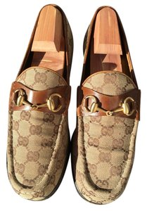 Gucci Brown & beige Flats