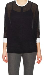 Helmut Lang Sheer Top Black