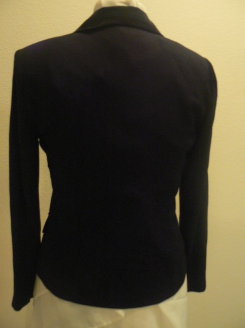 Jessica Howard Double Collar 4 Front Buttons Long Sleeves Double Front Black Jacket
