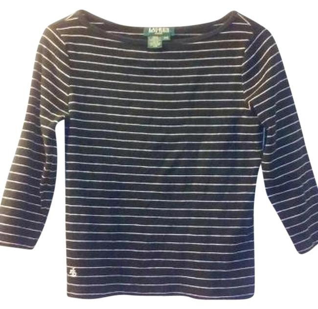 Preload https://item1.tradesy.com/images/ralph-lauren-black-and-white-striped-ps-sweaterpullover-size-2-xs-5918590-0-1.jpg?width=400&height=650