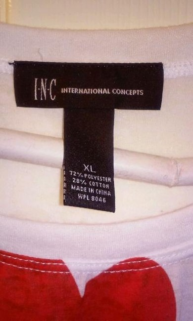 INC International Concepts Top multi red white and black