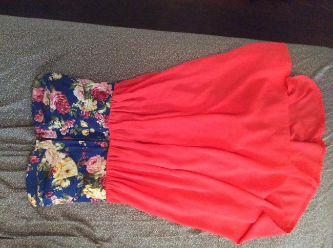 Other short dress Coral Blue Flowy Fitted Zipper on Tradesy
